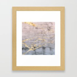 Watercolor Gradient Gold Foil IV Framed Art Print