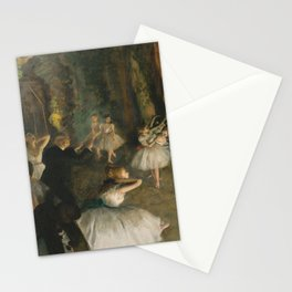 The Rehearsal of the Ballet Onstage, Stationery Cards