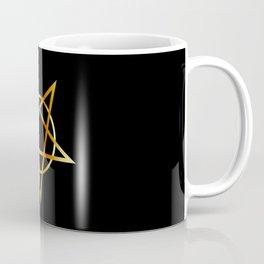 Golden inverted upside down Pentagram antichrist symbol Coffee Mug