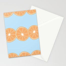 Half Orange Lines Pattern Stationery Cards