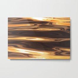 Water Sunset Pattern Metal Print