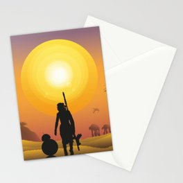 Walking in the desert Stationery Cards