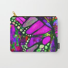 Monarch Butterfly in Pink Carry-All Pouch