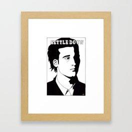 Settle Down Framed Art Print