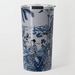 17th Century Delftware Chinoiserie Travel Mug
