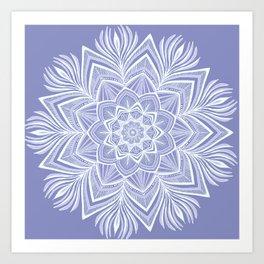 Violet Bloom Crown Chakra Art Print