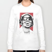stevie nicks Long Sleeve T-shirts featuring Stevie Wonder by Andy Christofi