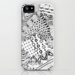 Zendoodle for Bonnie: Original Doodle Art with Tangle Patterns iPhone Case