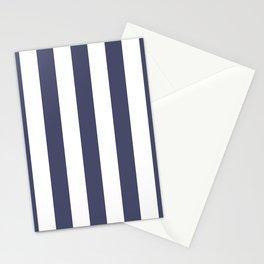 Navy Stripes Stationery Cards