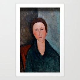 """Amedeo Modigliani """"Buste de jeune fille (Mademoiselle Marthe)"""" Art Print"""
