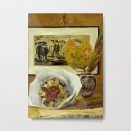 Still Life with Bouquet Metal Print