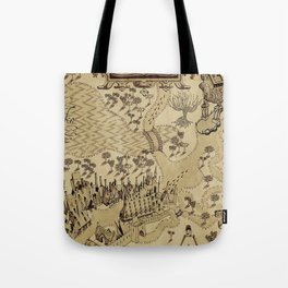 The Wizard world of Hogwarts Tote Bag