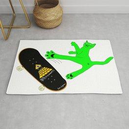 """Skateboading Ninja Cat"", by Brock Springstead Rug"