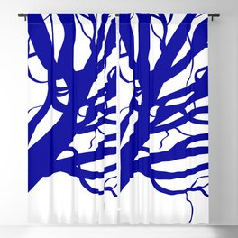 Classic Blue Tree Blackout Curtain