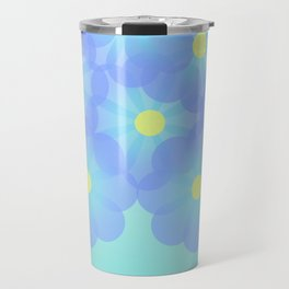 digital flowers Travel Mug