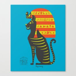 Mike - the Most Famous Cat in London Canvas Print