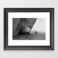 tectonic dive Framed Art Print