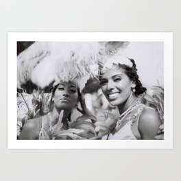 costume girls toronto caribana street party photograph home decor Art Print