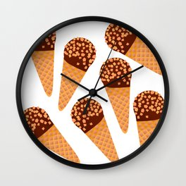 Ice Cream Drumstick Wall Clock