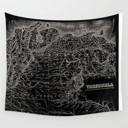 Venezuela Antique Map Wall Tapestry