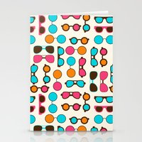 sunglasses Stationery Cards featuring Sunglasses by Valendji