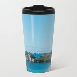Cathedral Cove, New Zealand Travel Mug