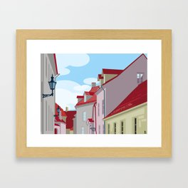 Tiled roofs Framed Art Print
