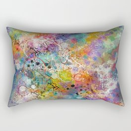 PAINT STAINED ABSTRACT Rectangular Pillow