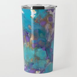 Blue Blossom Travel Mug