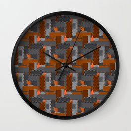 Steel Plates Wall Clock