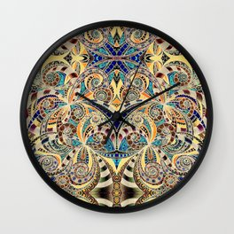 Drawing Floral Zentangle G240 Wall Clock