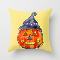 jack Throw Pillows featuring Jack by Shelley Ylst Art