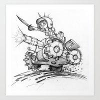 tank girl Art Prints featuring Tank girl by Jimmysan !!