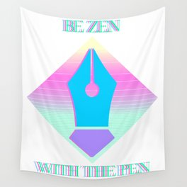 Zen with the Pen Wall Tapestry