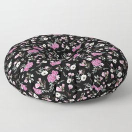 Liberty Black Pattern Floor Pillow