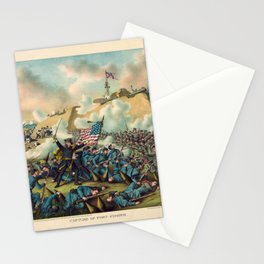 Civil War Capture of Fort Fisher January 15 1865 Stationery Cards