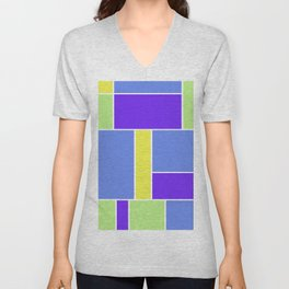 Abstract #461 Unisex V-Neck