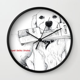 Golden Retriever Morning Wall Clock