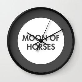 Moon of Horses (Celtic) Wall Clock