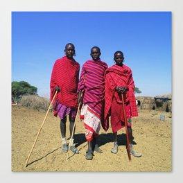 3 African Men from the Maasai Mara Canvas Print