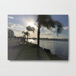 Sunset 3 Wind Beach Brazil Metal Print