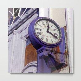 Old Clock at Train Station Metal Print