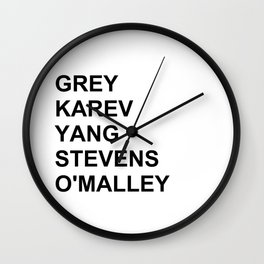 Grey's Anatomy Wall Clock