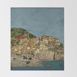Of Houses and Hills Throw Blanket