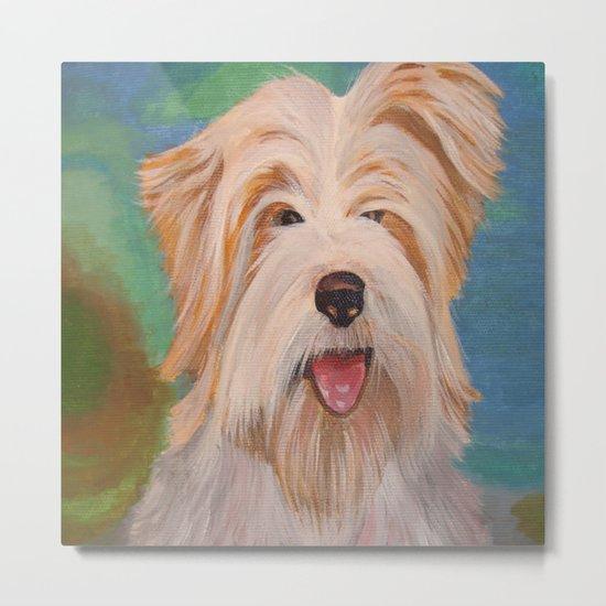 Terrier Portrait Metal Print