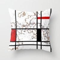 maps Throw Pillows featuring MIX MAPS by MehrFarbeimLeben