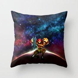 Metroid Samus Returns Throw Pillow