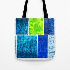 Blue Block Tote Bag