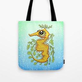 Happy Leafy Sea Dragon Tote Bag