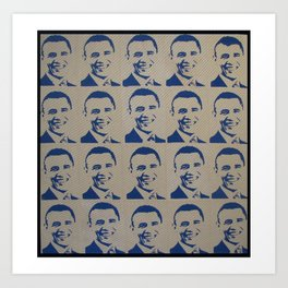 Obama In Blue Art Print